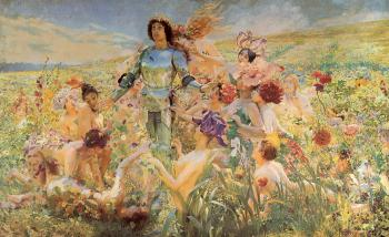 Georges Antoine Rochegrosse : The Knight of the Flowers